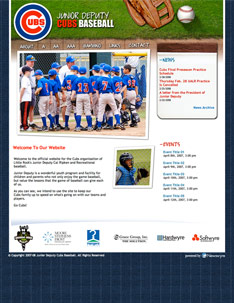 Junior Deputy Cubsb Baseball Web Site Home Page.
